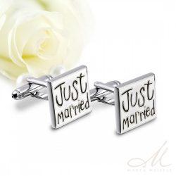 Just Married esküvői nemesacél mandzsetta MA-YW-N011