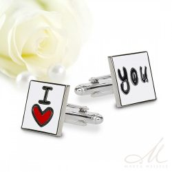 I love you esküvői nemesacél mandzsetta MA-YW-N092