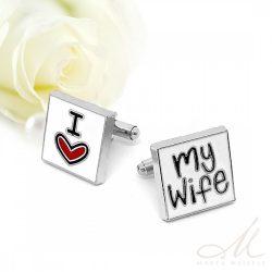 I love my Wife esküvői nemesacél mandzsetta MA-YW-N093