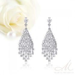 Luxus menyasszony fülbevaló cirkónia kristályokkal díszítve MEF-TM-B0511