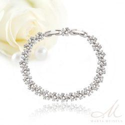 Káprázatosan szép menyasszonyi karkötő csillogó cirkónia kristályokkal kirakva MEK-XP-B323