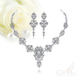 Barokk stílusú menyasszony ékszer szett kristályokkal díszítve MES-MM-B432