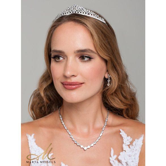 Klasszikus stílusú menyasszonyi, alkalmi ékszer szett kristályokkal díszítve MES-XP-B307