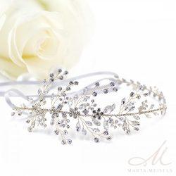 Szépséges alakítható menyasszonyi hajpánt kristályokkal és gyöngyökkel díszíttve MET-CQ-B819