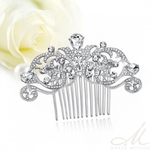 Hercegnői stílusú elegáns menyasszonyi fésű MET-MM-B116