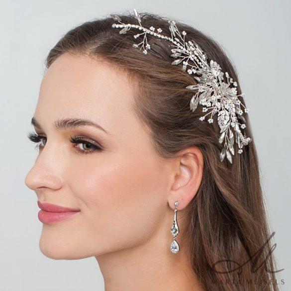 Káprázatosan csillogó strasszköves menyasszonyi hajdísz MET-RE-B1909