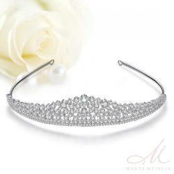 Hercegnői stílusú klasszikus menyaszonyi tiara kristályokkal díszítve MET-TM-B1325