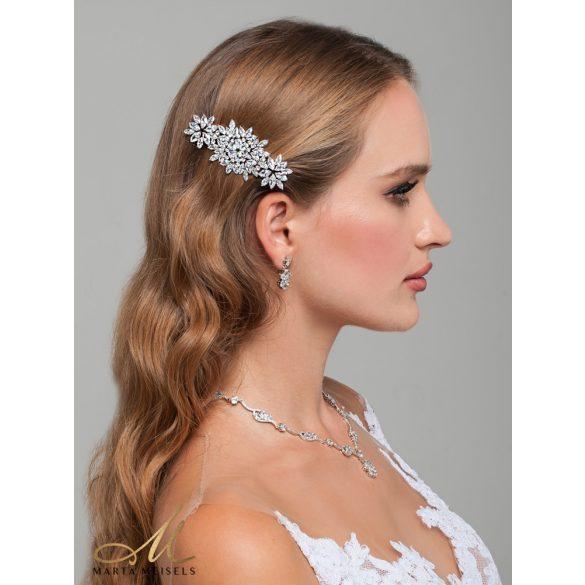 Káprázatosan csillogó luxus menyasszonyi fésű MET-TM-B3105